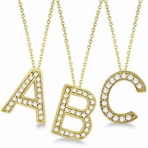 custom tilted diamond block letter initial necklace 14k With gold block letter initial necklace