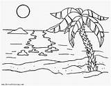 Sunset Coloring Sheets Adults Palm Printable Tree Sheet Adult Idea Clipart Trees Cactus Landscapes Nature Colors Children Drawings sketch template
