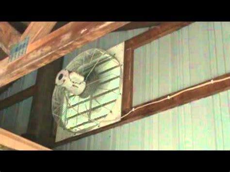 large dayton   louvered exhaust fan  polebarn