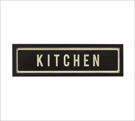 signs framed kitchen sign pottery barn Kitchen