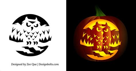 printable scary pumpkin carving patterns stencils