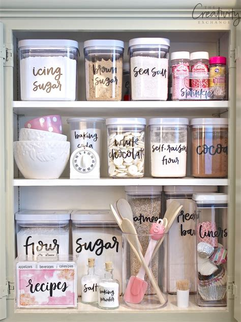 kitchen storage labels storage sources and tips for creating a baking cabinet 3160