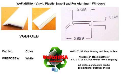 glazing bead  aluminum vinyl wood windows doors vgbfoeb biltbest window parts