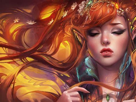 Women Fantasy Art Elves Artwork Sakimichan 1920x1080 ...