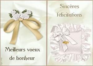 Carte De Voeux Gratuite A Imprimer Personnalisé : mariage felicitations cartes gratuites ~ Louise-bijoux.com Idées de Décoration