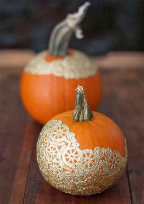 decorated pumpkins 17 apart diy pumpkin decorating golden doily pumpkins