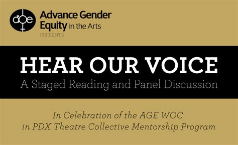 hear voice stage reading portland center stage armory