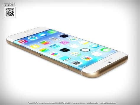 Iphone 6 Home Design : Iphone 6 Concept Design Imagines A Curvier Apple Smartphone