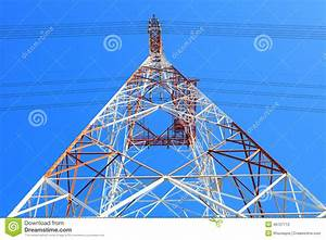 Symmetry Of High Voltage Electric Power Line Tower Metal
