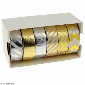 Masking Tape Doré : assortiment masking tape foil dor et argent 1 5 cm x 10 m 6 pcs assortiment de masking ~ Teatrodelosmanantiales.com Idées de Décoration