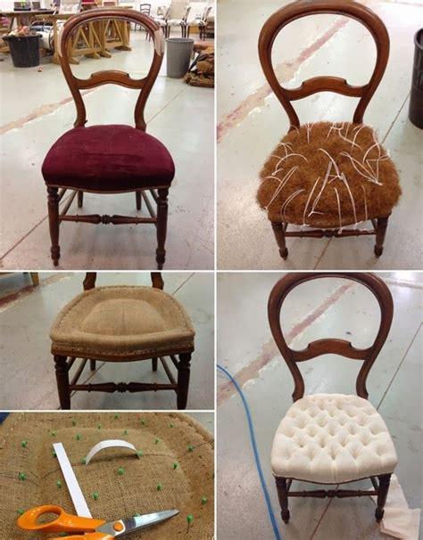 recouvrir des coussins de canapé 17 meilleures idées à propos de chaises rembourrage sur