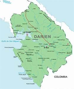 Mapa de Panama America Central