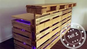 Bauen Mit Europaletten : bar selber bauen aus europaletten teil 1 youtube ~ Michelbontemps.com Haus und Dekorationen