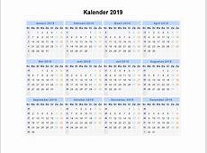 Kalender 2019 Indonesia Ferien, Feiertage, Excel PDF