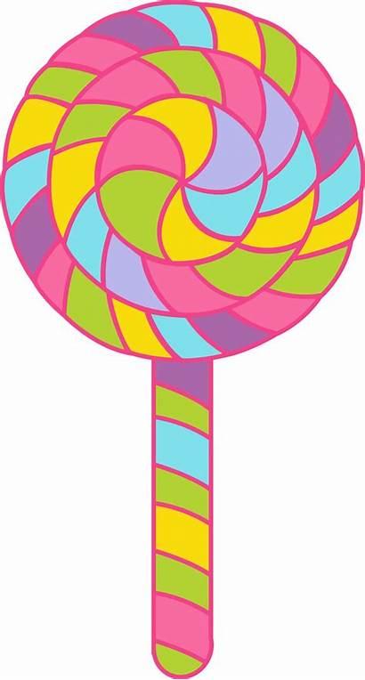 Candy Candyland Clipart Clip Lollipop Corn Minus