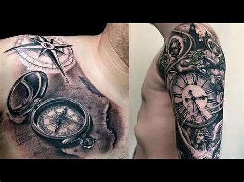 cool pocket   compass tattoos  men   youtube