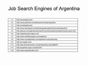 job search engines of south america With employment search engines
