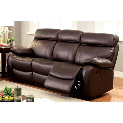 furniture  america birch plush top grain leather brown