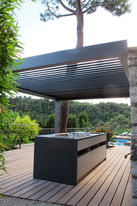 cuisine dete  deck piscine realisation  creation