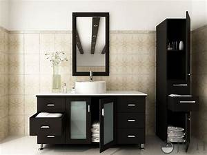 47, U0026quot, Grand, Lune, Bathroom, Vanity, White, Top, -, Espresso