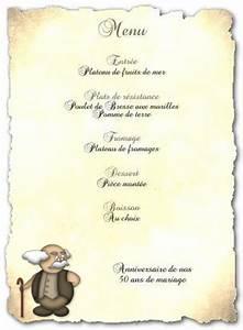 Modele De Menu A Imprimer Gratuit : menu de f te gratuit imprimer s niors a ~ Melissatoandfro.com Idées de Décoration