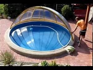 Levné zastřešení kruhového bazénu