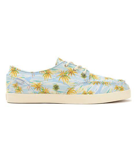 reef deckhand 2 turquoise aloha boat shoe reef deck 2 light blue aloha boat shoes zumiez