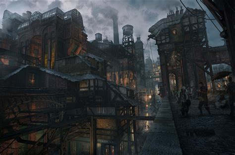 artwork fantasy art architecture  building overcast