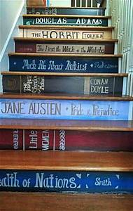 Classic Books Stair Stickers