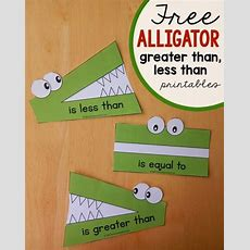 """less Than, Greater Than"" Math Activity  Using Toys  Alligators, Math And Math Activities"