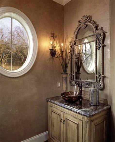 Tuscan Style Bathroom Decor by Tuscan Powder Room For The Home Powder