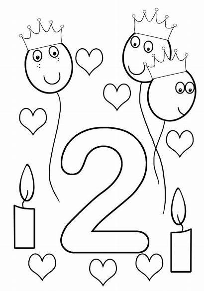 Coloring Birthday Pages Happy Sheet Printable 2nd