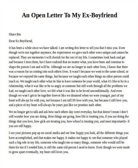 open letter   boyfriend   format cover letter