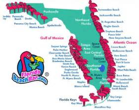 Map of Florida Beaches On the Gulf
