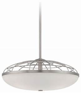Possini euro industrial open cage glass pendant light