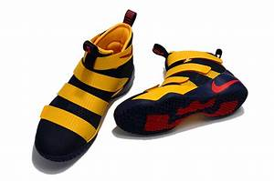 Zero Defect Nike Lebron Soldier 11 Navy Blue Yellow Men's ...
