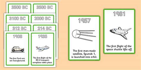 history  transport timeline cards transport  display