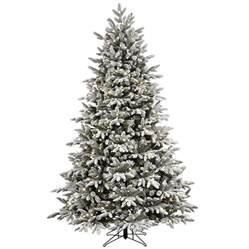 shop ge 7 5 ft pre lit alaskan fir flocked artificial tree with 600 color changing
