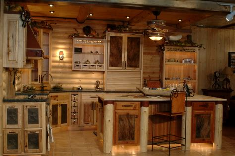 kitchen designs with islands and bars log cabin kitchens