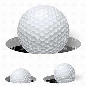 Golf ball in hole Royalty Free Vector Clip Art Image ...