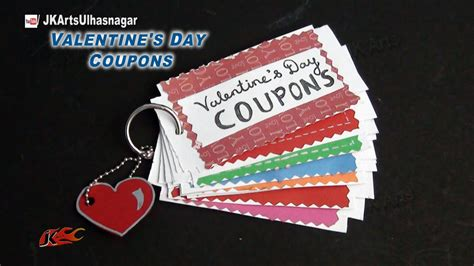 diy love coupon book valentines day gift idea jk arts