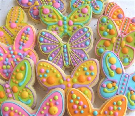 Reserved For Joylarge Butterfly Decorated Cookie Favors