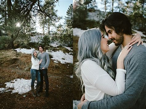 snowy engagement  wrightwood southern california