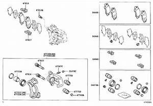 2007 Toyota Highlander Disc Brake Caliper Repair Kit  Rear