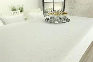 Damast Tischdecke Weiß : damast tischdecke fleckschutz wei muster breite 130 cm ~ Watch28wear.com Haus und Dekorationen