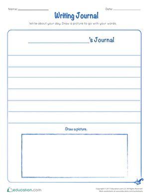 st grade writing worksheets  printables educationcom