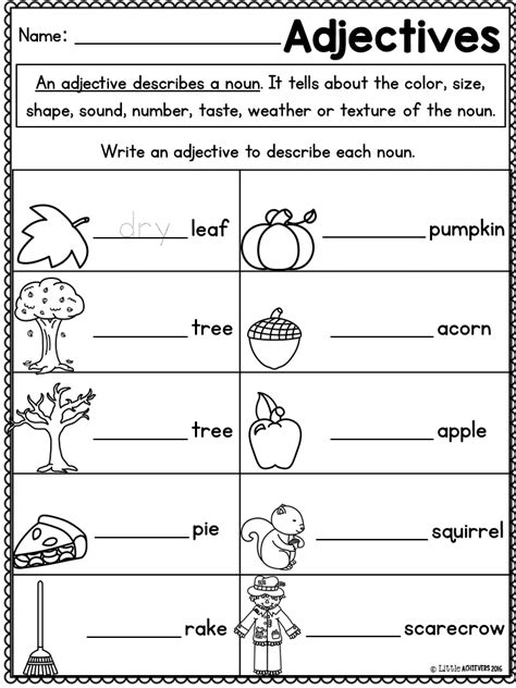 fall activities for grade math worksheets and