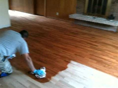 Minwax Hardwood Floor Reviver Before And After by Remaflooring Gunstock Stain Color