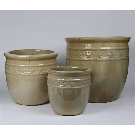 tuscan path pots tuscan path 20 x 20cm glazed studded pot i n 2860158 bunnings warehouse