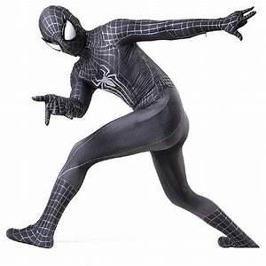 black spider man costume adult spandex 3d kids adulto ...